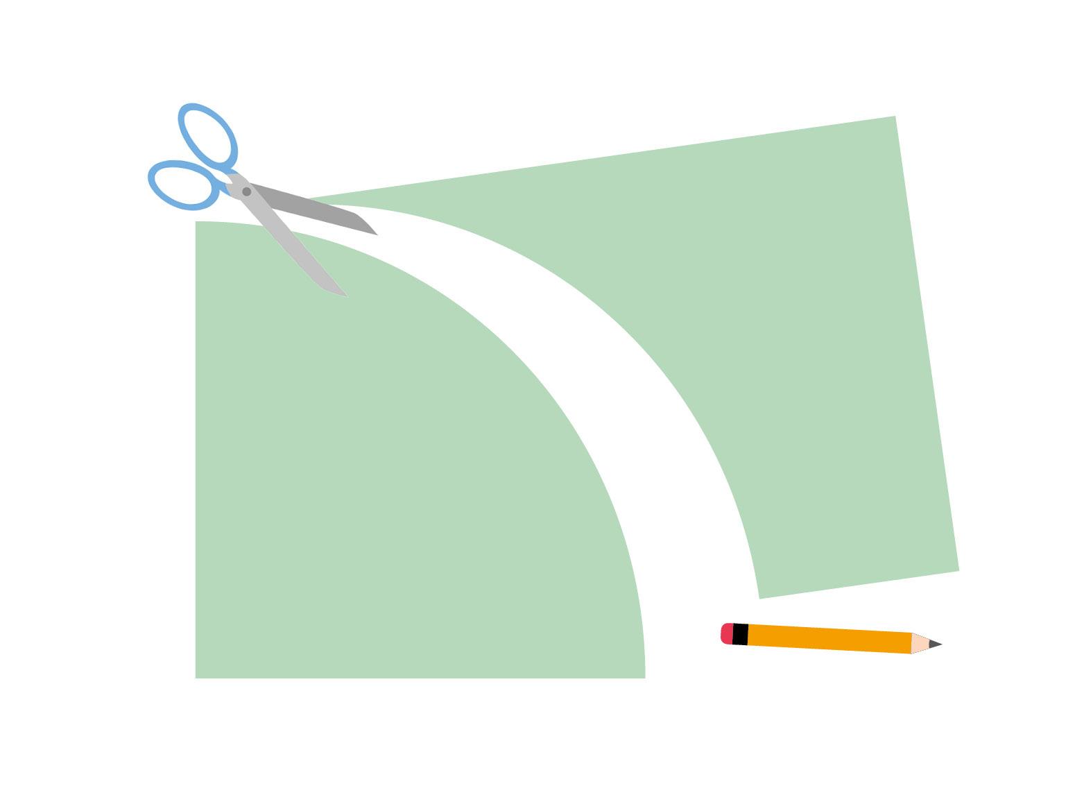 Schritt 2: Schneiden Sie nun entlang der Linie, die Sie gerade aufgezeichnet haben. Den überschüssigen Teil der Pappe können Sie für spätere Bastelaktionen aufbewahren.