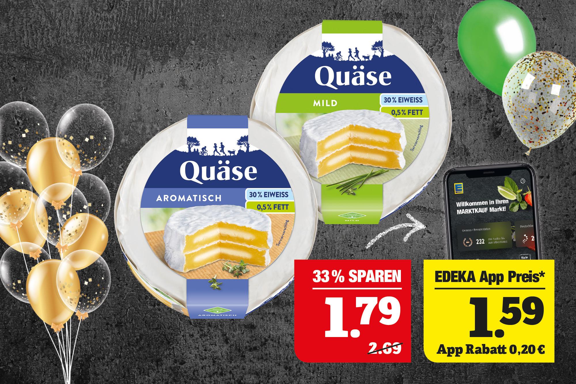 Loose Quäse - Leckerer Käse aus Quark; verschiedene Sorten; 220g Packung; 100g=0,81.