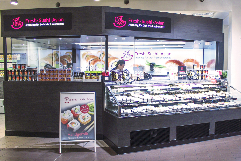 Täglich frisch und von Hand gerolltes Sushi von EatHappy.