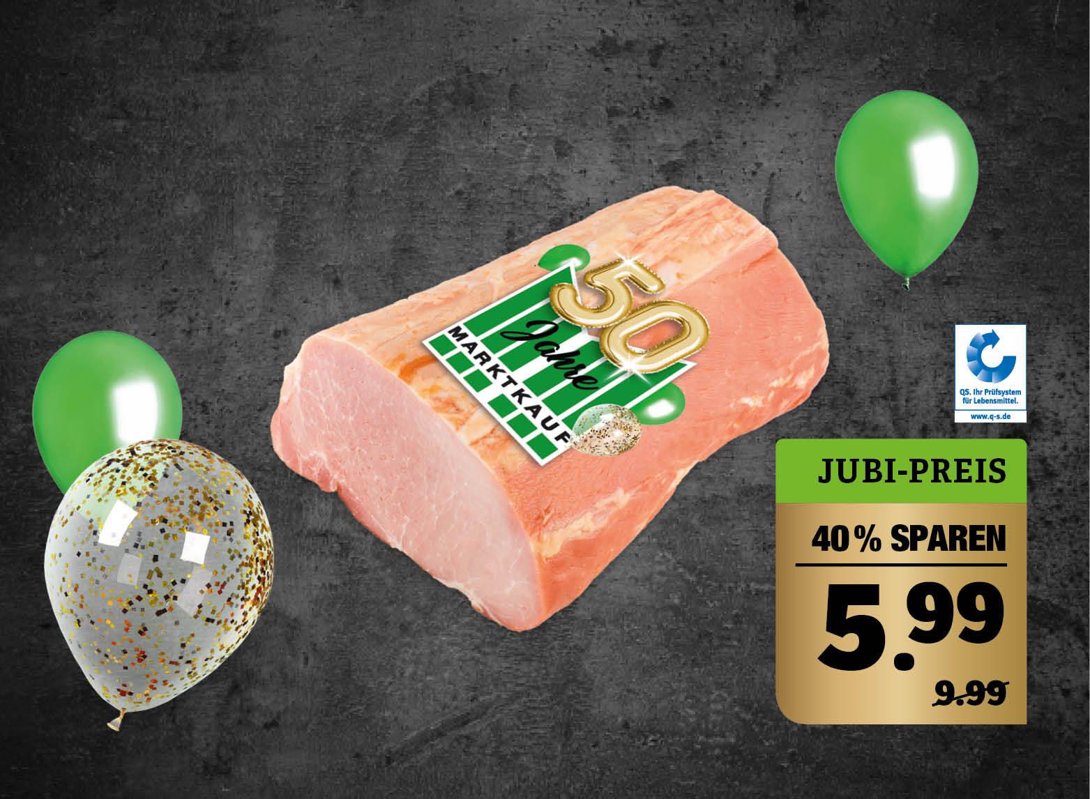 Jubiläums Kasseler Lachs - roh, ohne Knochen, goldgelb geräuchert, verschiedene Gewichte, SB-Packung 1kg.
