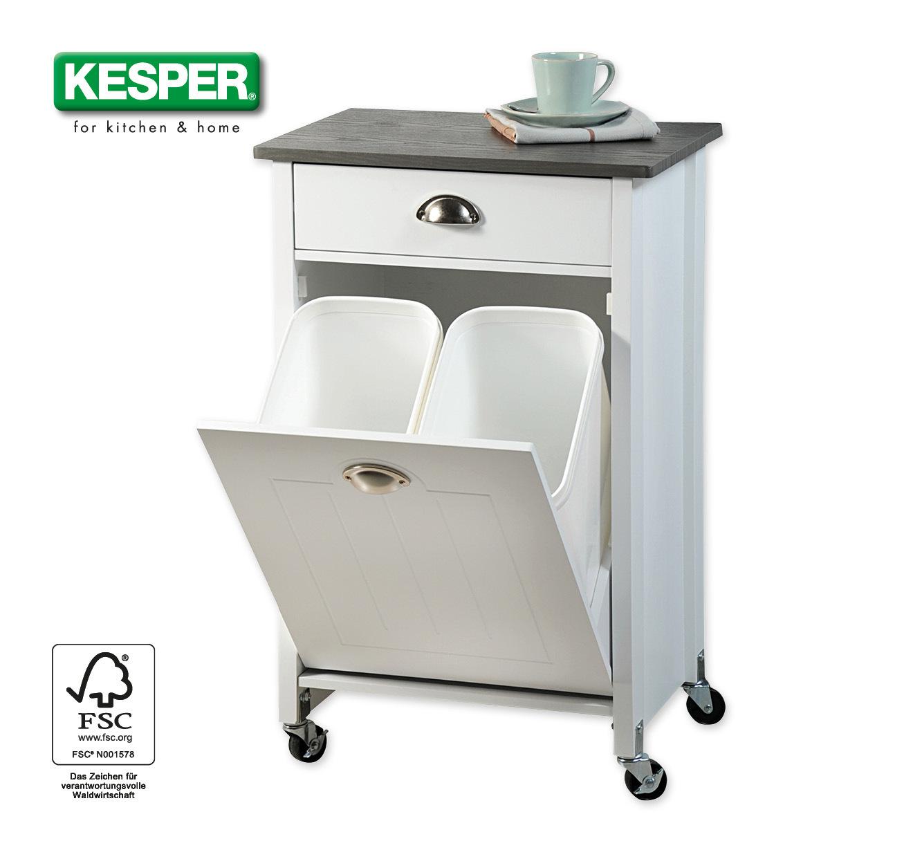 Küchenwagen mit Mülltrennsystem