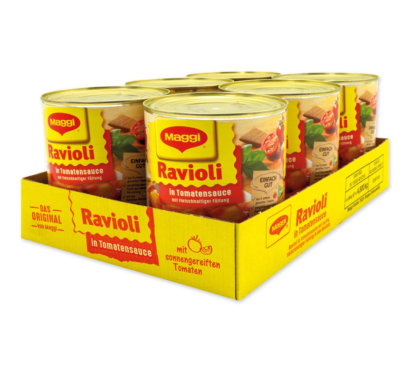 6 Dosen <br /> Maggi italienische Pastaspezialität