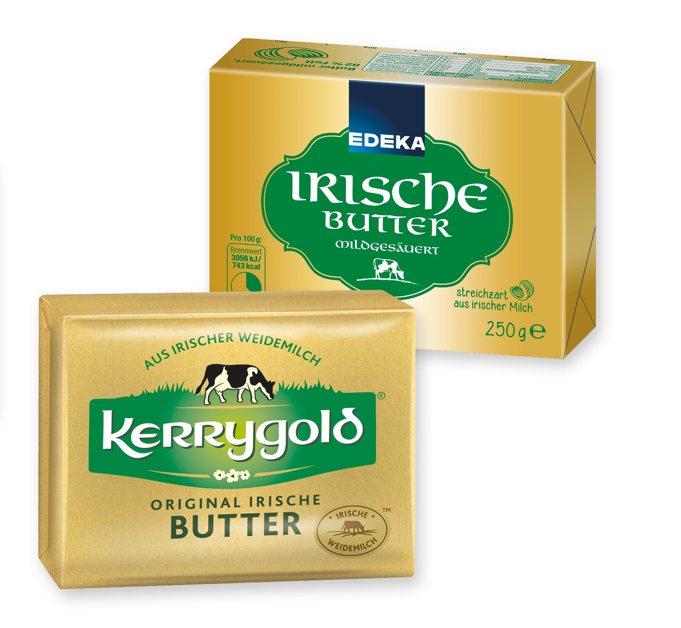 EDEKA oder kerrygold Irische Butter