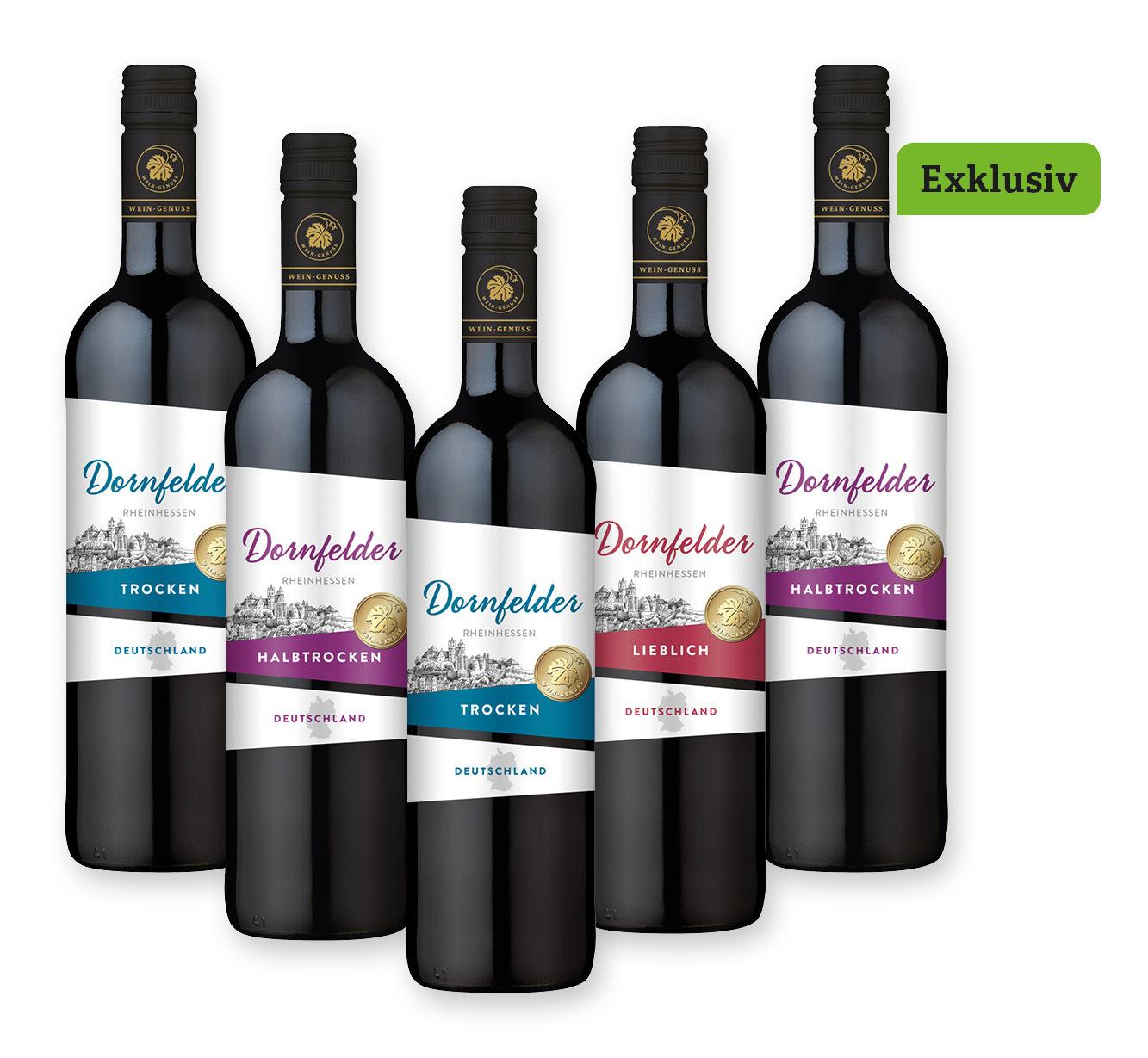 5 Flaschen <br /> Wein-Genuss Dornfelder