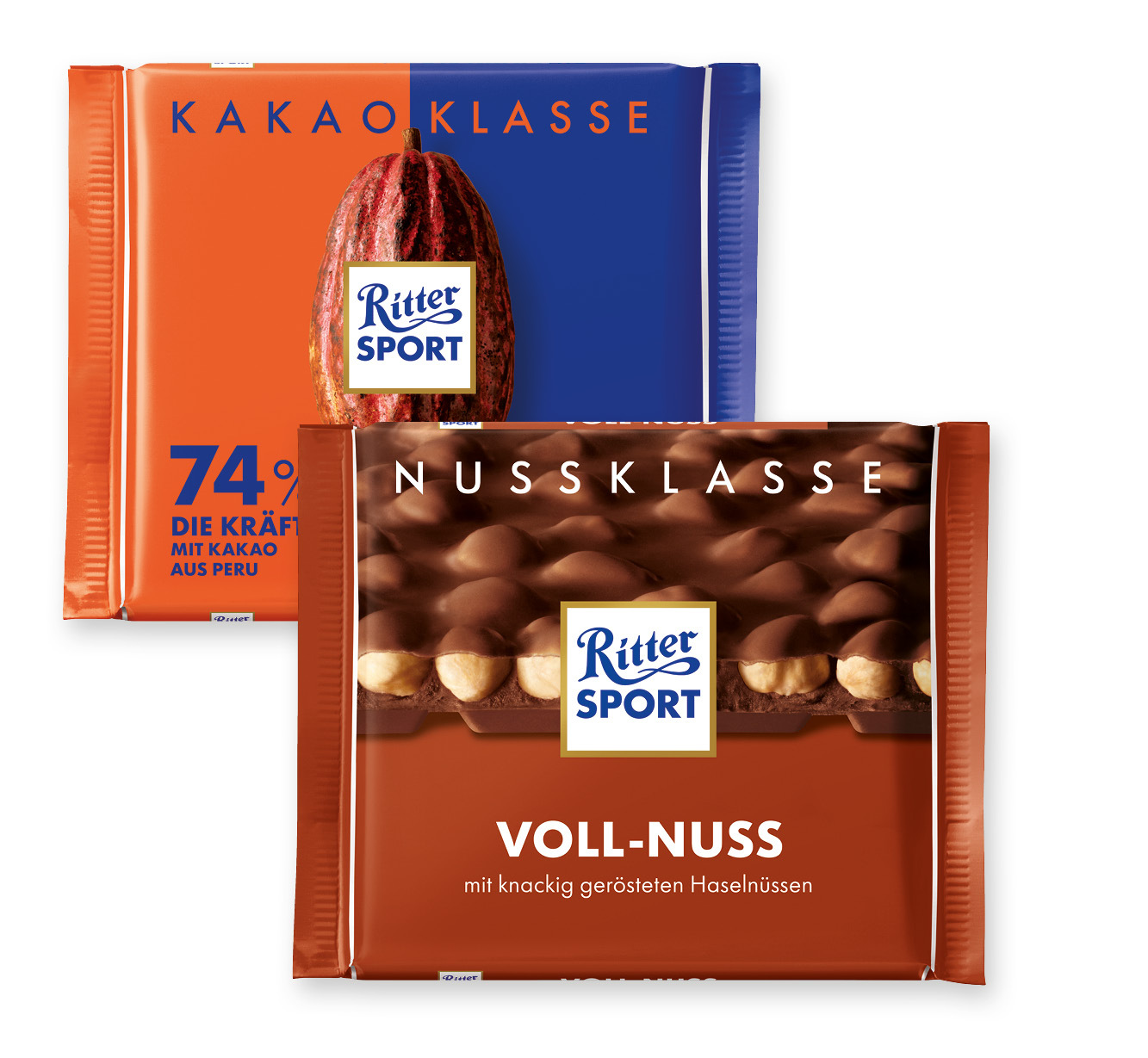 Ritter Sport Nuss oder <br /> Kakao Klasse Schokolade