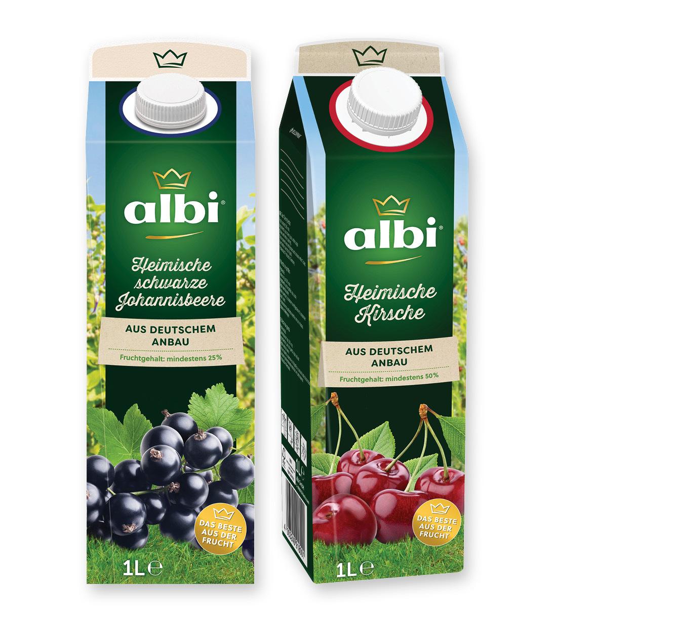 albi Saft, Nektar oder Fruchtsaftgetränk