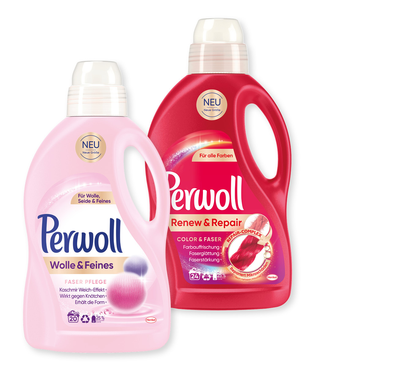 2 Flaschen/Packungen Perwoll Feinwaschmittel