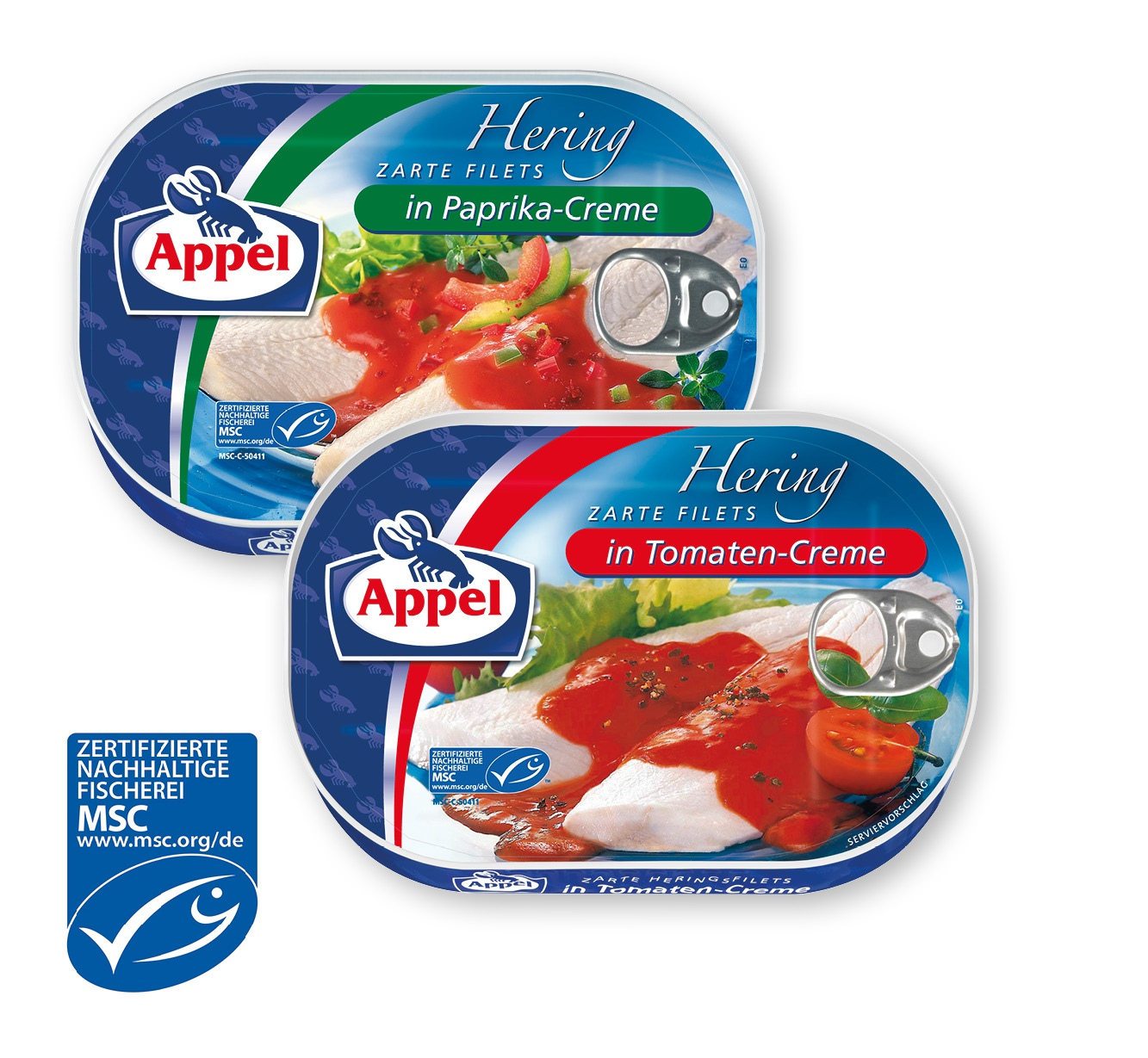 Appel MSC Hering zarte Filets