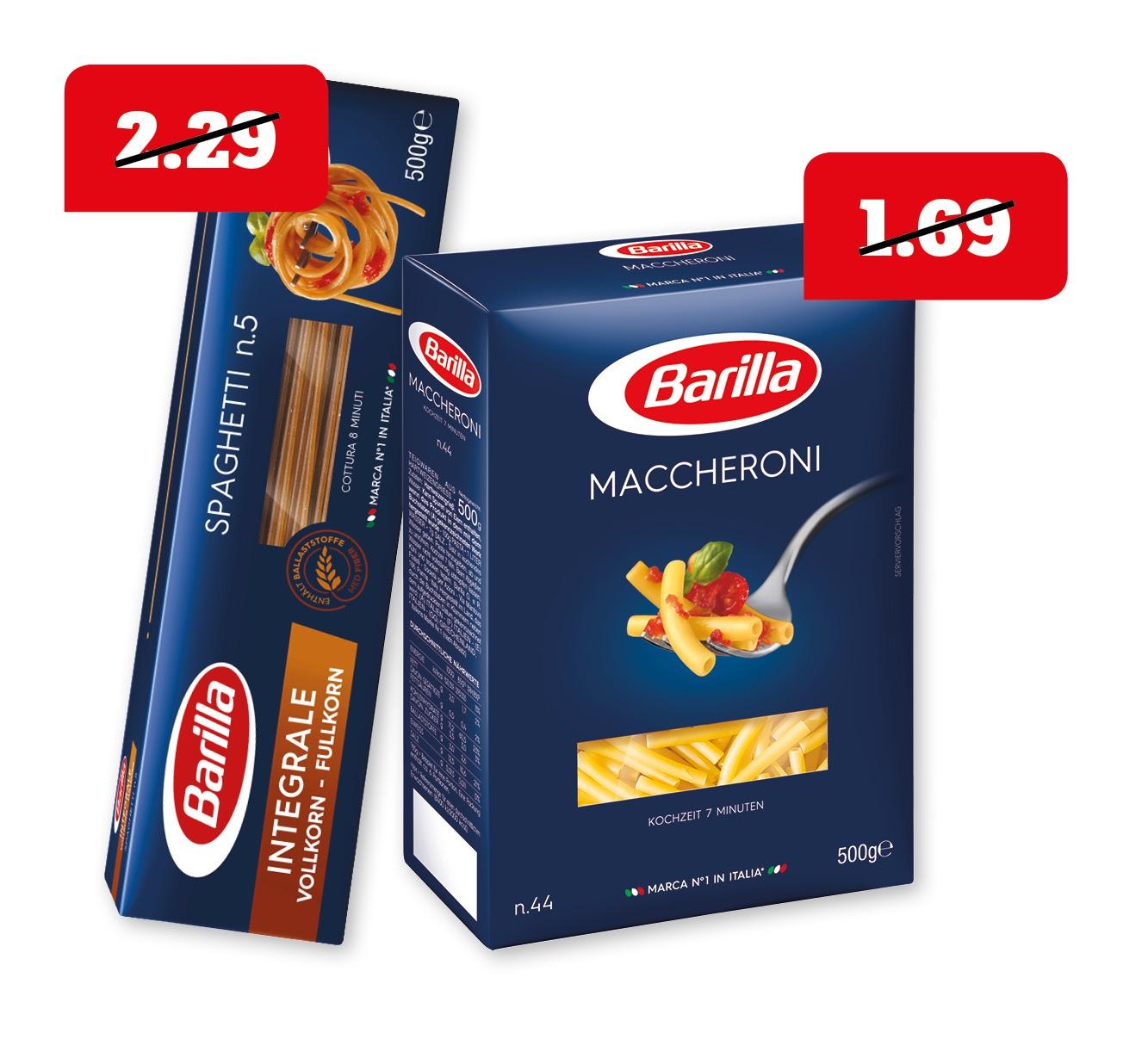 Barilla italienische Pasta oder Integrale