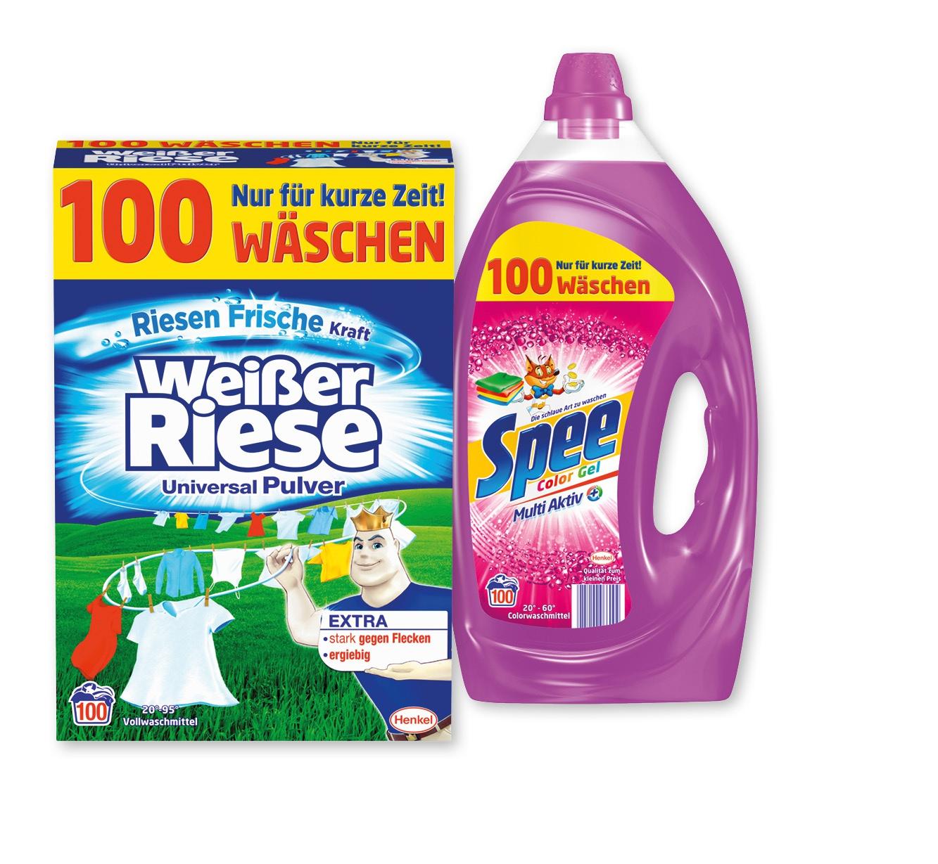 Weißer Riese oder Spee Vollwaschmittel